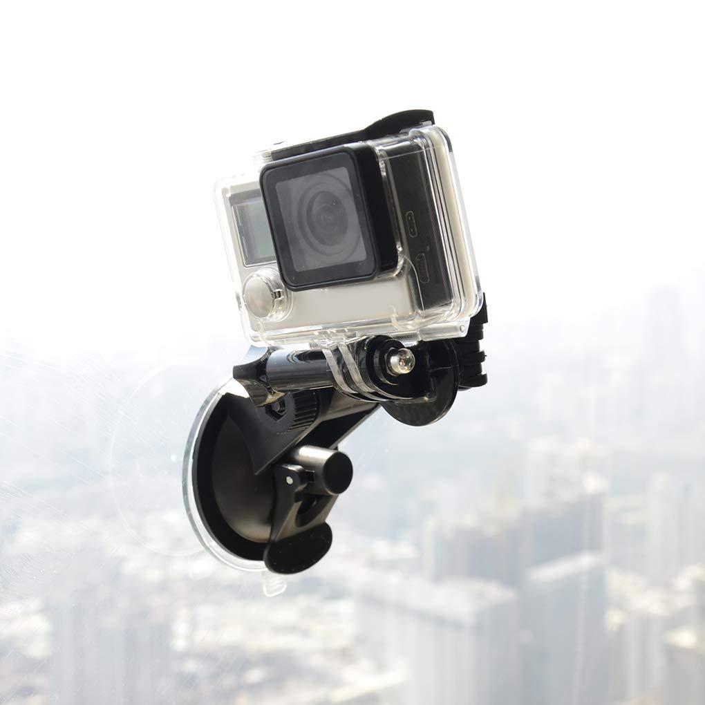 5//4//3 // 3//01.02 schwarz 1 babysbreath17 Mini-Sauger-Auto-Fahrenrecorder Halterung Kamera-Stativ-Halter Ersatz f/ür Gopro hero6
