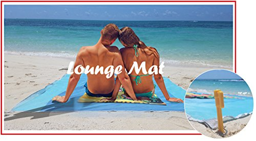 AMUIGA- Portable Lounge Mat 6.5ft x 6.5ft includes 4 plastic stake anchors and pouch bag. Great for sun tan, shade in your tent or while you enjoy the breeze under - Costa Price Cheapest Sunglasses