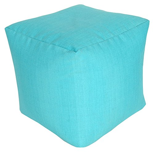 India House 18'' x 18'' x 18'' Trev Aquarius Outdoor/Indoor Pouf by India House