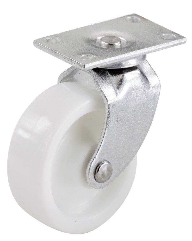 4-Pack Shepherd Hardware 9052 1-1//4-Inch Plastic Swivel Plate Casters