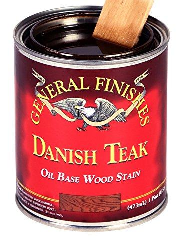 (General Finishes DTQT Oil Based Penetrating Wood Stain, 1 Quart, Danish Teak)