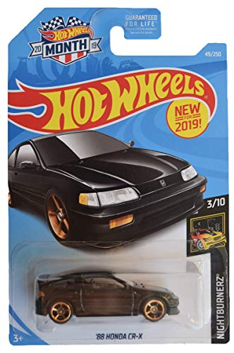 Hot Wheels Nightburnerz 3/10 [Black] '88 Honda CR-X 49/250 2019 Month Card