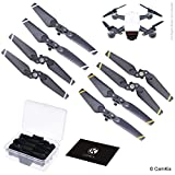 Propellers for DJI Spark - 2 Sets (8 Blades) - With Convenient Storage Box - Quick Release Foldable Wings - Flight Tested Design - Essential Accessory For Your DJI Spark Drone