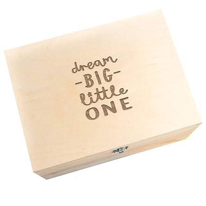 Caja de recuerdos de madera grabada/caja de recuerdo para bebé ...