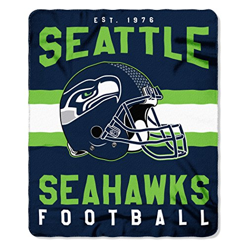 The Northwest Company NFL Seattle Seahawks Singular 50-inch by 60-inch Printed Fleece Throw