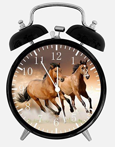 Beautiful Horse in Water Alarm Desk Clock 3.75