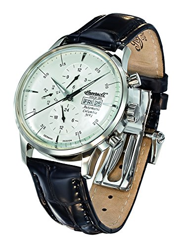 Ingersoll Men's IN2819WH Columbia No. 1 Analog Display Automatic Self Wind Black Watch