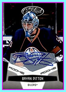2010-11 Panini Certified #207 Bryan Pitton AUTOGRAPH RC EDMONTON OILERS SERIAL #649/799 Rookie