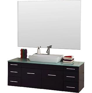 Design Element Wellington Double Sink Vanity Set Inch Vanity - 55 inch double sink bathroom vanity for bathroom decor ideas
