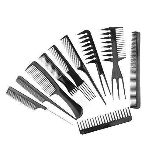 WliYaGg 10 Pcs Salon Barbers Hair Styling Hairdressing Brush Combs Makeup...