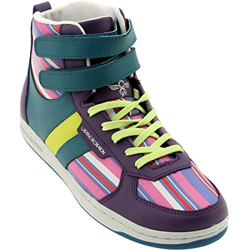 Sneaker Lo Dicoco The - Creative Recreation Womens Dicoco (Grape/Multi Stripe)
