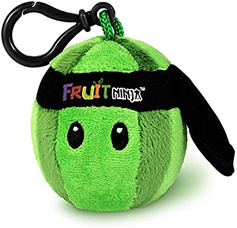 "Orange Fruit Ninja 2.5/"" Mini Plush Backback Clip"