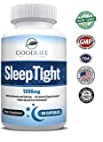 *PRlME DAY SPECIAL* SleepTight All Natural Sleep Aid Pills Made with Valerian, Chamomile, Passionflower, Lemon Balm, Melatonin & More! - Sleep Well, Wake Refreshed - Non Habit Forming Sleep Supplement