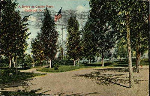 A Drive At Casino Park Endicott, New York Original Vintage - Casino Drive