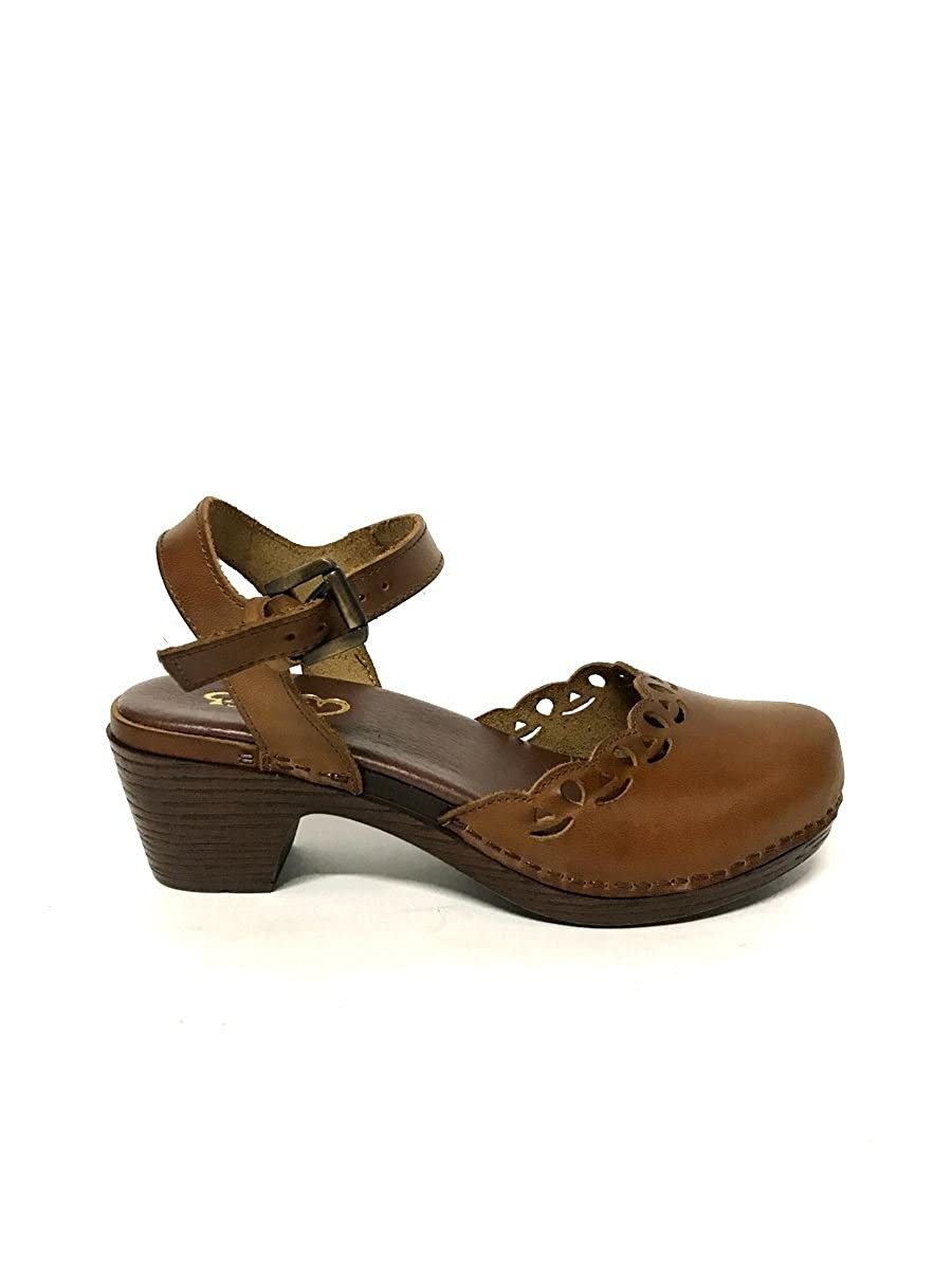 Amazon com | Vintage Leather Sabot mid Heel Clogs Made Italy