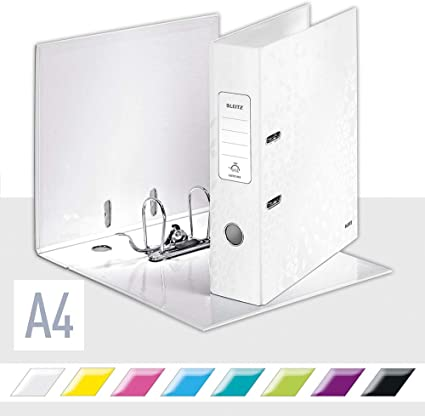 ARCHIVADOR Palanca LEITZ Wow A4 180 80mm Blanco Perla: Amazon.es ...