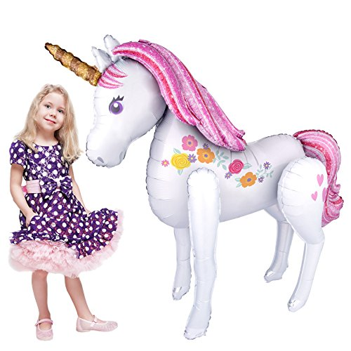 Magical Unicorn Airwalker Foil Balloon Full ()