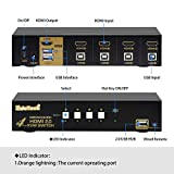 4 Port HDMI Cables KVM Switch Support Ultra HD
