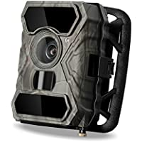 Hunting Trail Camera, LDesign Game Camera for Hunting Waterpfoof HD Deer Camera with Wide Angle Infrared Night Vision with IR LEDs & PIR Sensor