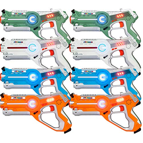 JOYMOR Laser Tag Guns Set of 8 Tag Blasters ,Multiplayer Mode,Best Toy for Boys Girls for Indoor and Outdoor Activity- Infrared 0.9mW (8 Pack) by JOYMOR (Image #6)