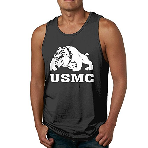 Qbbe Men's Marine Bulldog-USMC Tank Tops Fitness T-Shirts XXL (Tank Men Marine Corps Top)