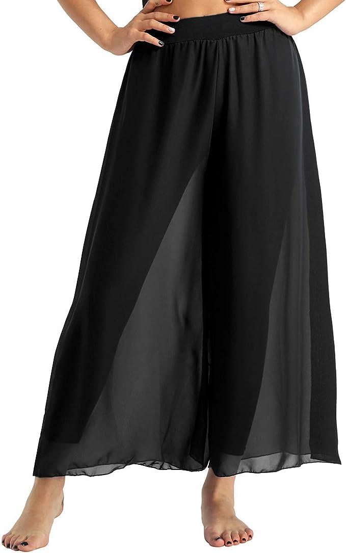 TiaoBug Pantalones de Danza Vientre Sevillanas Mujer Pantalones ...