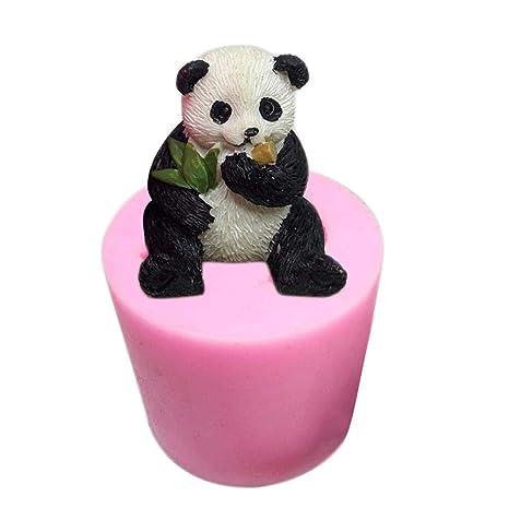 Creativo 3D Panda moldes para Hornear Aromaterapia Gypsum Car Display Vela Molde de Yeso DIY Molde