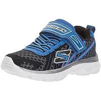 Skechers Kids Boys' Advance-Hyper Tread Sneaker, Charcoal/Black, 4 M US Big Kid