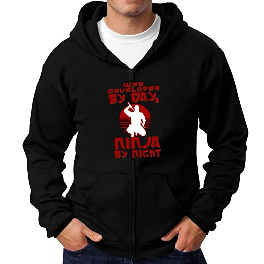 Teeburon Web Developer by Day, Ninja by Night Zip Hoodie at ...