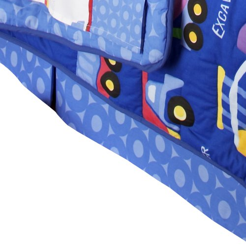 Olive Kids Under Construction Queen Bedskirt - Olive Kids Under Construction Queen