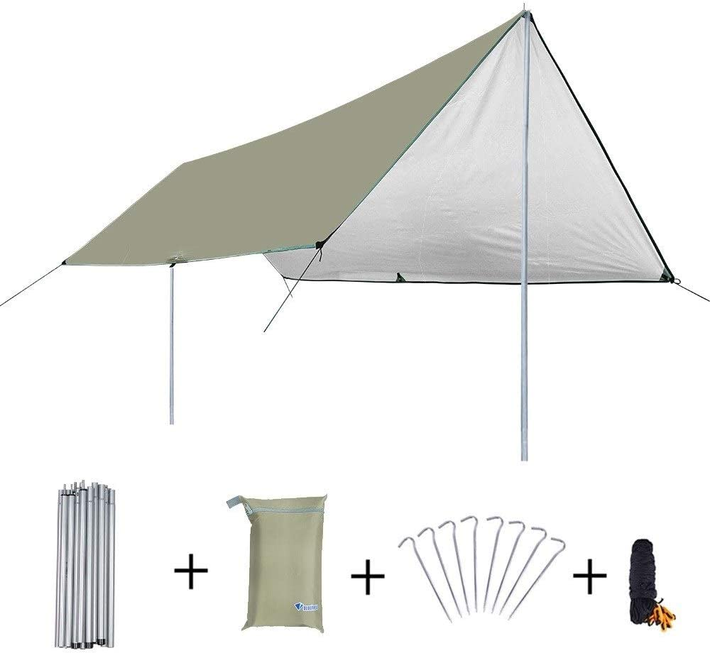 Toldo parasol pérgola grande exterior Canopy camping Verdickte Regenfest-Zelt UV de módulo playa pérgola, Fibra sintética, beige, 3*5m: Amazon.es: Hogar