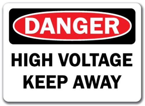 (Danger Sign - High Voltage Keep Away - 10