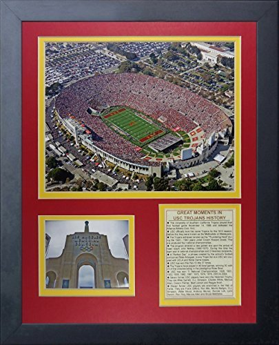 "Legenden Sterben Nie ""USC Memorial Coliseum"" gerahmtes Foto Collage, 11 x 35,6 cm von Legends Never Die"