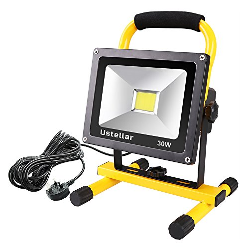 Ustellar 30W LED Work Light (200W Equivalent) 2400lm, 5m Wire with Plug,...