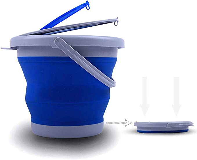 for Home Cleaning Camping Fishing Travel Portable Water Storage Carrier Indoor Outdoor ANPI Foldable Bucket Collapsible Silicone Plastic Bucket