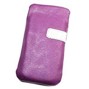 Funda Pochette de piel sintética color morado L para Nokia Lumia 610