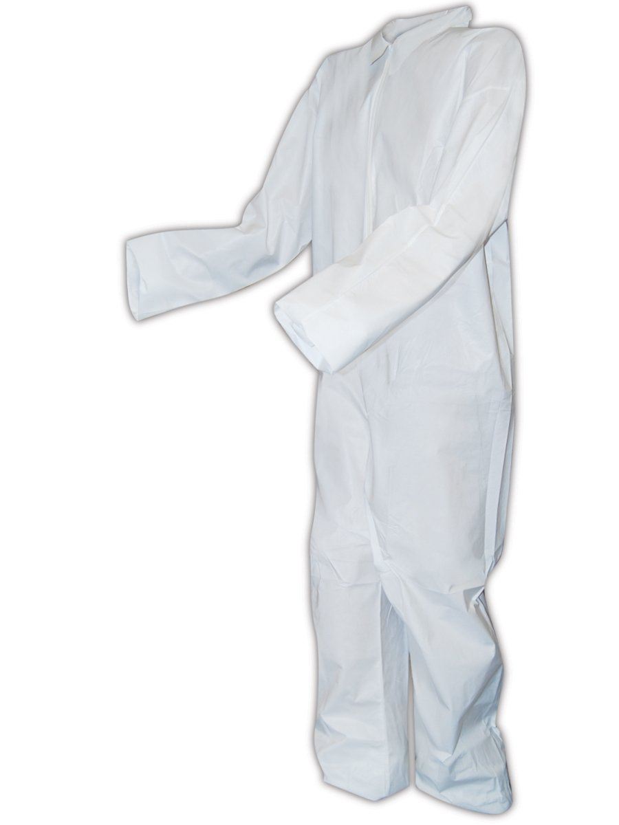Magid CVZ8MCP EconoWear Microporous Disposable Coverall with Open Wrists and Ankles, 4X-Large, White (Case of 25)