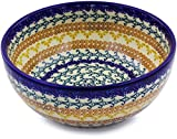Product review for Polish Pottery Bowl 7-inch (Autumn Swirls Theme)