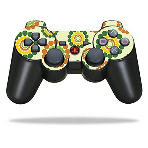 MightySkins Skin Compatible with Sony Playstation 3 PS3 Controller - Hippie Flowers | Protective, Durable, and Unique Vinyl wrap Cover | Easy to Apply, Remove, and Change Styles | Made in The USA