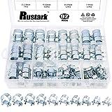 Rustark 92Pcs 7mm to 18mm (10 Sizes) Zinc Plated