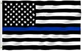 ANLEY [Fly Breeze] 3x5 Foot Thin Blue Line USA Flag - Vivid Color and UV Fade Resistant - Canvas...