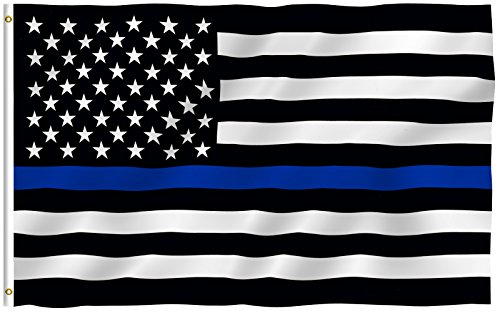 ANLEY  3x5 Foot Thin Blue Line USA Flag - Vivid Color and UV