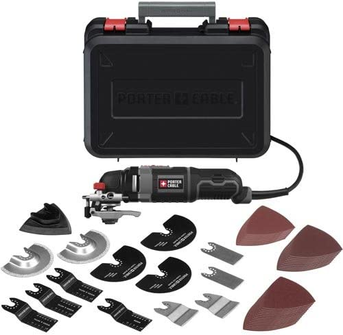 PORTER-CABLE Oscillating Tool Kit, 3-Amp, 52 Pieces PCE605K52