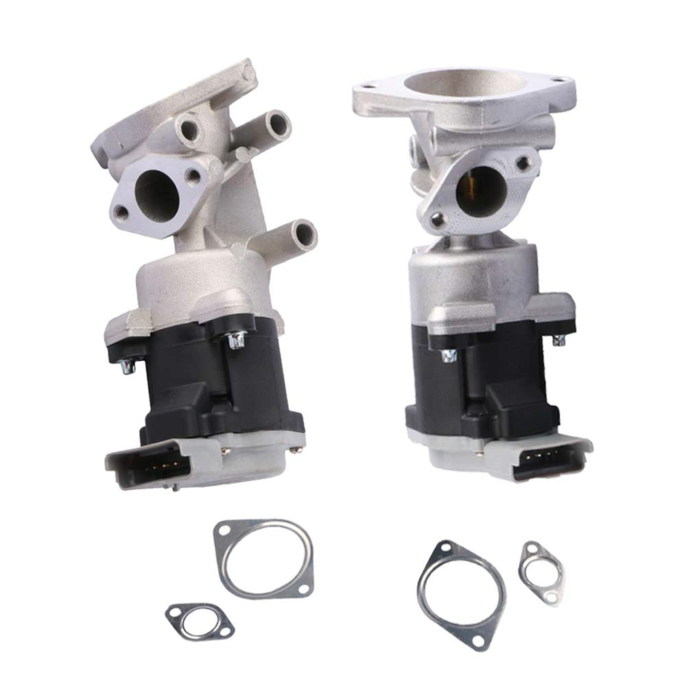 MOSTPLUS Pair Front Left & Right Exhaust Gas Recirculation EGR Valve For For SUV 2720ccm 190HP 140KW 04-16 Discovery 2.7 TD 4x4 / 05-13 Range R Sport 2.7 D 4x4