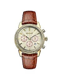 Ingersoll Women's Automatic Stainless Steel and Leather Casual Watch, Color:Brown (Model: I03902)