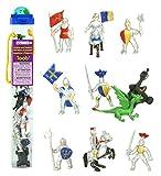 Safari Ltd 699904 Knights & Dragons Toob Hand Painted Toy Miniature Figurines (Set of 10)