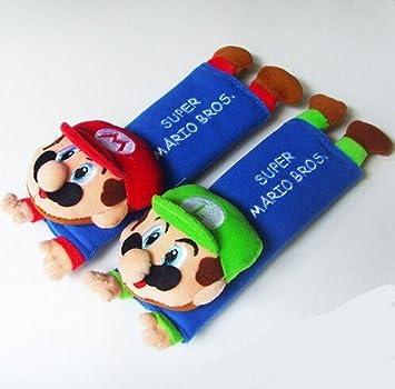 Amazon.com: Mario & Luigi Plush Cinturón de Seguridad Funda ...