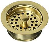 Jaclo 2831-SG Disposal Flange Strainer, Satin Gold, Satin Gold