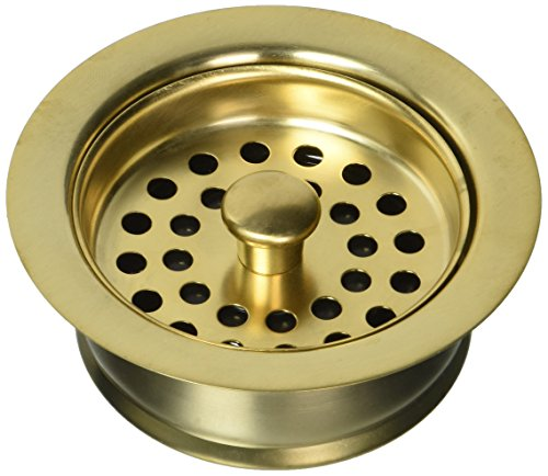 Jaclo 2831-SG Disposal Flange Strainer, Satin Gold, Satin Gold by Jaclo