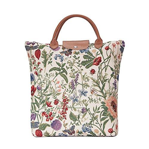 Sac Femme Signare Tapisserie Style Tissu Plié Shopping Colibri Jardín Por La Mañana (jardin du matin)